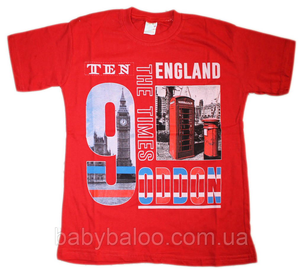 """Летняя футболка  для  мальчика """"England""""(от 8 до 10 лет)"""