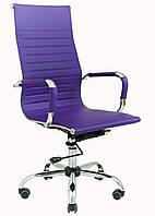 Кресло Slim HB (XH-632) мех., Tilt Фиолетовый
