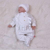 """Святковий комплект для новонароджених """"Фрак"""" молочний, 56 р, 62 р, фото 1"""