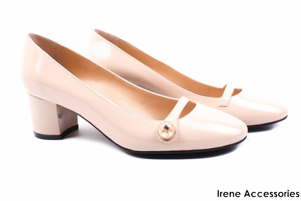 8da6585df Стильные туфли Aquamarin женские натуральный лак цвет беж (каблук, комфорт,  Турция)