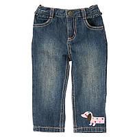 Детские джинсы для девочки. 12-18 месяцев