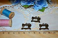 Металлический декор Швейная машинка бронза