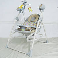 Детская электрокачель качалка c мобилем Tilly 3в1 + пульт BT-SC-0005 Grey