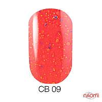 Гель-лак Naomi 6 мл Candy Bar СВ 09 коралловый неон, с конфетти, плотный