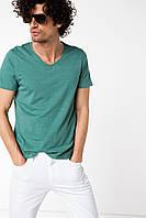 Мужская футболка De Facto зеленого цвета