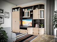 Гостинная Женева, cветлый венге, мебель в гостинную комнату