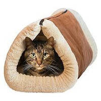 Домик-лежанка для собак и кошек Kitty Shack 2 in 1 tunnel bed & mat