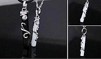 Серебряный кулон Инь и Янь парные Черный и Белый влюбленным 2 штуки