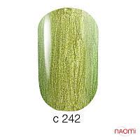 Гель-лак Naomi Chameleon Collection 242, 6 мл золотисто-салатовый