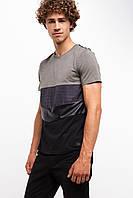 Мужская футболка De Facto в разноцветные полоски, фото 1