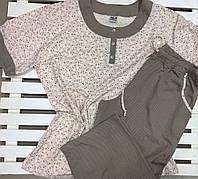 Пижама женская футболка и капри размер 4XL