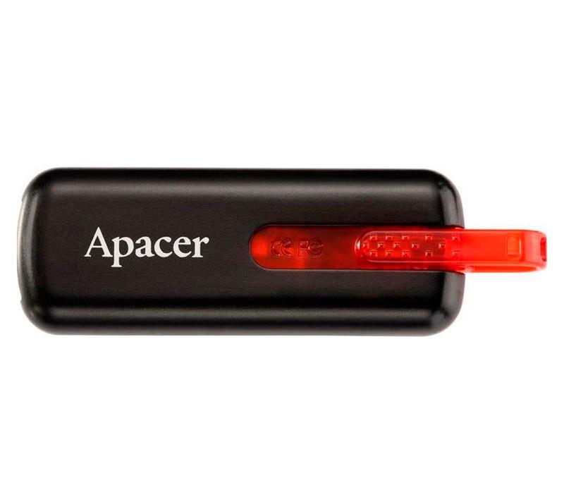 Флешка 8 Gb Apacer AH326 Black / AP8GAH326B-1