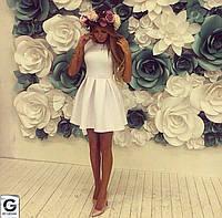 Короткое платье  с мягкими складами