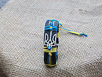 Патриотический кожаный браслет ТРИЗУБЕЦ УКРАИНА на руку, ручная работа