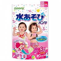 Moony - трусики для плавания M(7-10 кг), 3 шт для девочки