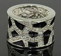 Удивительное серебряное кольцо, 925 пробы, покрытое платиной(100901)