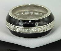 Интересное французское Серебряное кольцо 925 пробы с фианитами, покрытое платиной(100881)