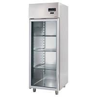 Холодильный шкаф 700л из нержавейки (дверь стеклянная)