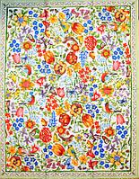 Декупажная салфетка Яркий орнамент с цветами и птицами 2351