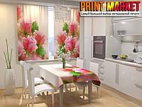 Фотошторы для кухни 3д розы