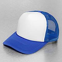 Синяя кепка тракер с белым