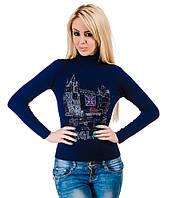Свитер женский Лондон  синий, фото 1