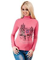 Свитер женский Лондон розовый, фото 1
