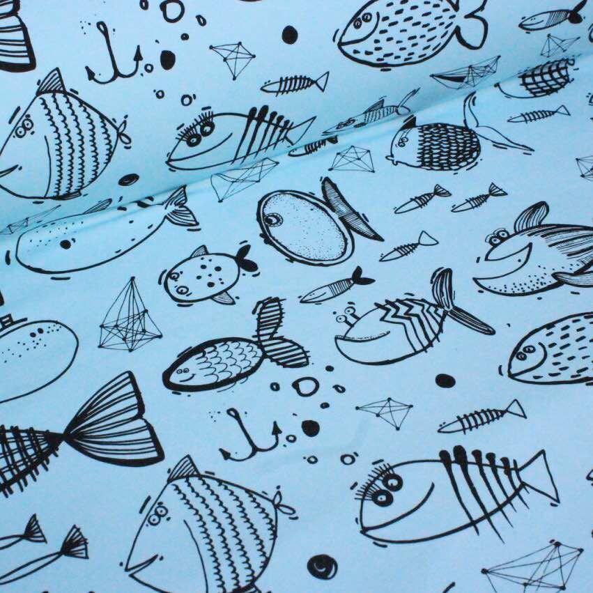Футер риби на блакитному № 057