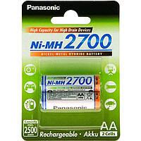 Аккумулятор PANASONIC High Capacity AA 2700 mAh * 2 (BK-3HGAE/2BE)