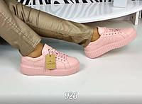 Женские кроссовки криперы, эко кожа, розовые / криперы женские весна, стильные