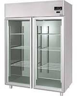 Холодильный шкаф 1400л из нержавейки (двери стекло)