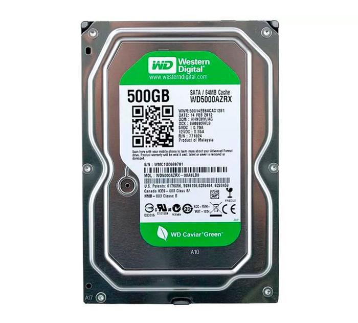 Жесткий диск для компьютера 500 Гб Western Digital Green, SATA 3, 64Mb