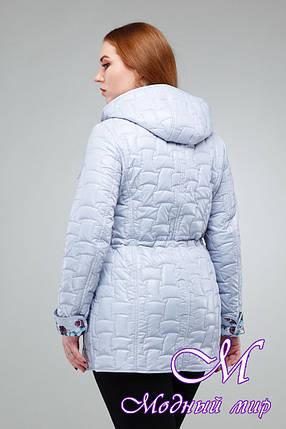 Женская светло-серая весенняя куртка большого размера (р. 44-60) арт. Дебра, фото 2