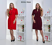 Свободное платье с коротким рукавом батал в расцветках q-t6151209