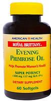 Масло примулы вечерней  60 капс 1300 мг для восстановления гормонального баланса уженщин  American Health