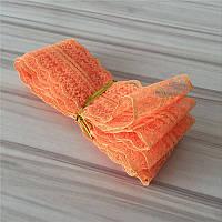 Лента кружевная Оранжевая 45 мм