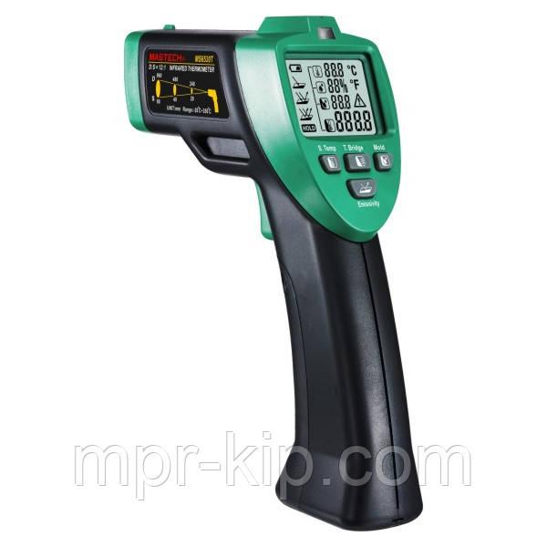 Пірометр Mastech MS6530T (-20 ... +350 °C) D:S: 12:1; EMS: 0.75; 0.85; 0.95. Температура і вологість повітря.