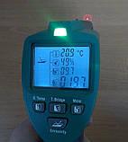 Пірометр Mastech MS6530T (-20 ... +350 °C) D:S: 12:1; EMS: 0.75; 0.85; 0.95. Температура і вологість повітря., фото 3
