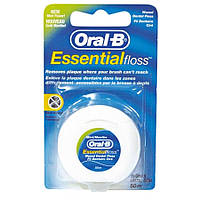 Зубная нить Oral-B Essential floss Waxed мятная 50м