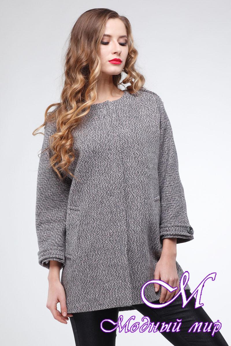Женское свободное демисезонное пальто (р. 42-50) арт. Мадейра