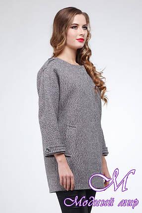 Женское свободное демисезонное пальто (р. 42-50) арт. Мадейра, фото 2