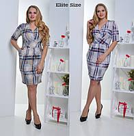 Женское батальное платье с красивым принтом y-t6151214