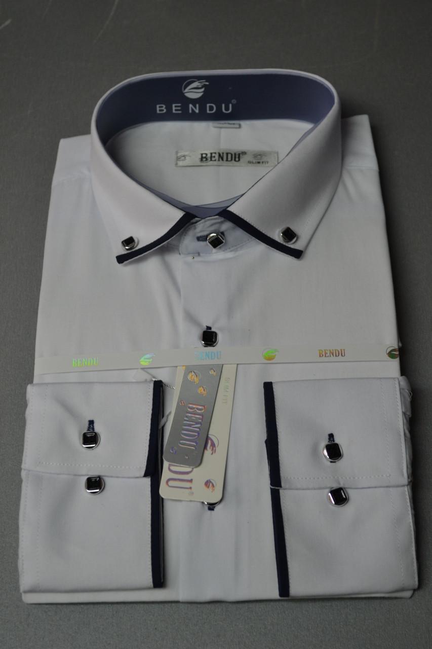 Приталенная белая рубашка BENDU