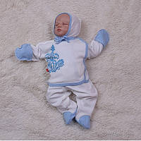 """Набор трикотажный для новорожденных """"Monogram"""" голубой, фото 1"""