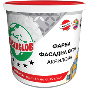 Фасадная акриловая краска Ансерглоб / Anserglob Эко +, 28 кг ведро