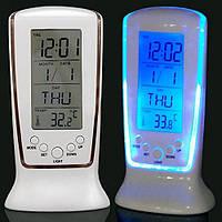 Часы, будильник, дата, температура, подсветка, 0510, фото 1