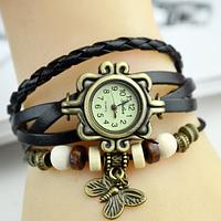 Часы женские с оригинальным ремешком (Black)