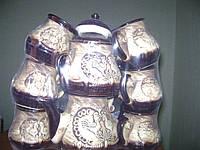 50102 Набор чайный 8пр(чайник+сахарница+6 чашек