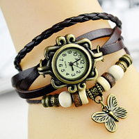 Часы женские с оригинальным ремешком (Brown)