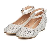 Нарядные туфли со стразами на платформе для девочки